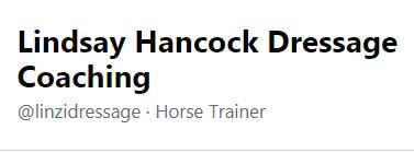 Lindsay Hancock Dressage Coaching